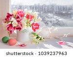 Pink Tulips And White Freesia...