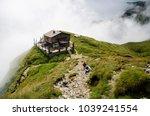 caraiman cabin in bucegi...   Shutterstock . vector #1039241554