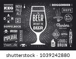 poster or banner with text beer ... | Shutterstock . vector #1039242880