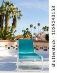 view of the beach chair left... | Shutterstock . vector #1039243153
