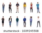 team photo group of people | Shutterstock . vector #1039245508