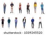 team photo group of people | Shutterstock . vector #1039245520