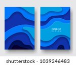 vertical a4 covers with 3d... | Shutterstock .eps vector #1039246483
