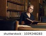 beautiful blonde woman wearing... | Shutterstock . vector #1039248283