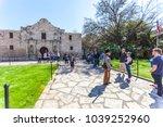 san antonio  texas   march 2 ... | Shutterstock . vector #1039252960