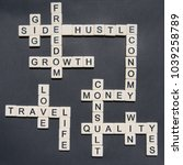 letters forming side hustle and ... | Shutterstock . vector #1039258789