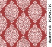 red and white ornamental... | Shutterstock .eps vector #1039262710