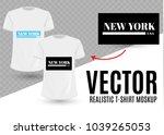 black and white new york usa... | Shutterstock .eps vector #1039265053