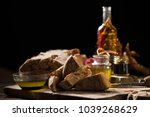 bread with olive oil and... | Shutterstock . vector #1039268629