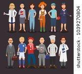 professional career character... | Shutterstock .eps vector #1039270804