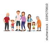 happy big family portrait... | Shutterstock .eps vector #1039270810