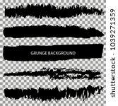 set of grunge banners.grunge...   Shutterstock .eps vector #1039271359