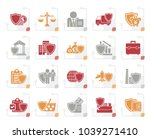 stylized business and... | Shutterstock .eps vector #1039271410