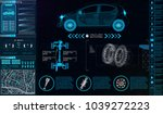 futuristic user interface. car...
