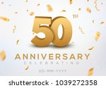 50 anniversary gold numbers... | Shutterstock .eps vector #1039272358