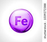 mineral ferrum shining pill... | Shutterstock .eps vector #1039272388