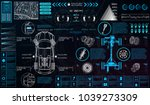car service in the style of hud.... | Shutterstock .eps vector #1039273309