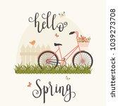 spring concept vector... | Shutterstock .eps vector #1039273708
