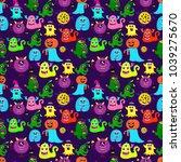 abstract halloween seamless... | Shutterstock .eps vector #1039275670