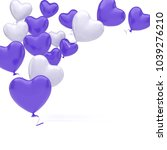 violet and white baloons in the ... | Shutterstock . vector #1039276210