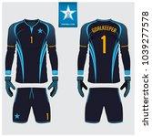 goalkeeper jersey or soccer kit ...   Shutterstock .eps vector #1039277578