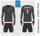 goalkeeper jersey or soccer kit ... | Shutterstock .eps vector #1039277890