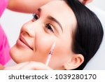 botox face  face model close up ... | Shutterstock . vector #1039280170