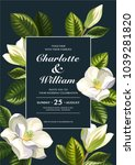 tropical hawaiian wedding... | Shutterstock .eps vector #1039281820