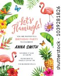 Flamingo Party Invitation....