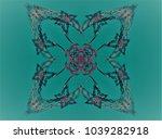abstract fractal illustration.... | Shutterstock . vector #1039282918