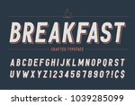 condensed retro display font... | Shutterstock .eps vector #1039285099