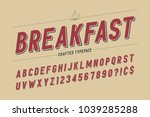 condensed retro display font... | Shutterstock .eps vector #1039285288