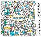 illustration of business... | Shutterstock .eps vector #1039285600