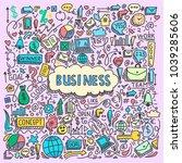 illustration of business... | Shutterstock .eps vector #1039285606