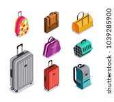 vector baggage isolated 3d... | Shutterstock .eps vector #1039285900