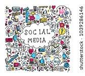 illustration of social media... | Shutterstock .eps vector #1039286146