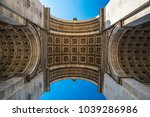 paris  france  may 2016  arch... | Shutterstock . vector #1039286986