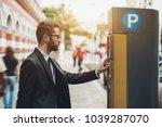 young handsome businessman in...   Shutterstock . vector #1039287070