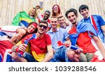 happy sport supporters having... | Shutterstock . vector #1039288546
