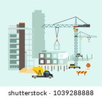 building work process with... | Shutterstock . vector #1039288888
