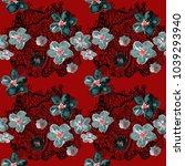 boho pattern. watercolor... | Shutterstock . vector #1039293940