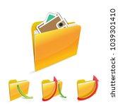 money folder icon. | Shutterstock .eps vector #1039301410