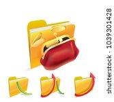 money folder icon. | Shutterstock .eps vector #1039301428