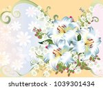 abstract floral background | Shutterstock .eps vector #1039301434