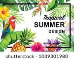 tropical hawaiian design with... | Shutterstock .eps vector #1039301980