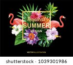 tropical hawaiian design with... | Shutterstock .eps vector #1039301986