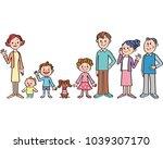 good friend three generations... | Shutterstock . vector #1039307170