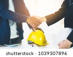 successful deal  male architect ... | Shutterstock . vector #1039307896