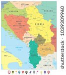 central balkan region political ... | Shutterstock .eps vector #1039309960