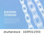 block chain. crypto currency.... | Shutterstock .eps vector #1039311553